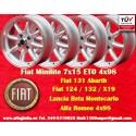4 pcs jantes Fiat Minilite 7x15 ET0 4x98