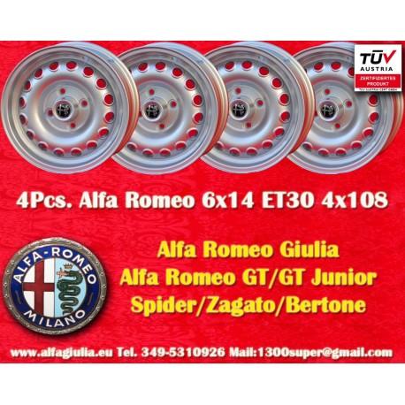4 Stk. Alfa Romeo 6x14 ET30 4x108