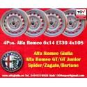 4 Stk. Felgen Alfa Romeo 6x14 ET30 4x108