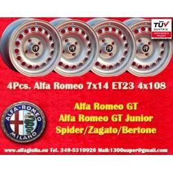 4 pcs Alfa Romeo 7x14 ET23 4x108 wheels