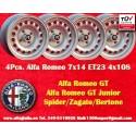 4 Stk. Felgen Alfa Romeo 7x14 ET23 4x108