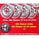 4 pcs Cerchio Alfa Romeo Giulia TI/TZ Giulietta 5.5x15 ET35 4x108