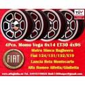 4 Stk. Felgen Fiat/Lancia/Alfa Romeo Momo Vega  6x14 ET30 4x98