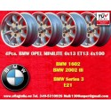 4 Stk. Felgen BMW Minilite 6x13 ET13 4x100