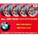 4 pcs. llantas  BMW Minilite 7x13 ET+5 4x100
