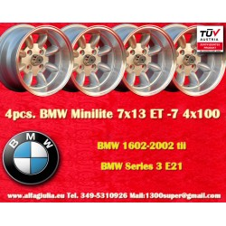 4 pcs. BMW Minilite 7x13 ET-7 4x100 wheels