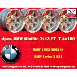 4 Stk. BMW Minilite 7x13 ET-7 4x100