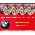 4 Stk. Felgen BMW Minilite 7x13 ET-7 4x100