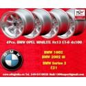 4 Stk. Felgen BMW Minilite 8x13 ET-6 4x100