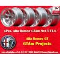 4 Stk. Felgen GTAm project Minilite 8x13 ET-6 4x108