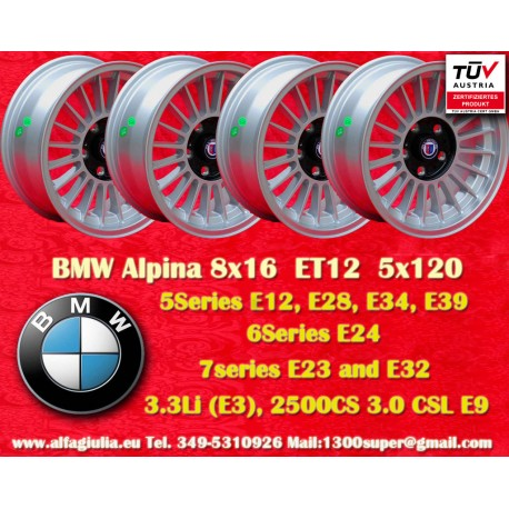 4 pcs. Cerchio BMW Alpina 8x16 ET24 5x120