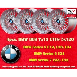 4 pcs. BMW BBS X Spoke 7x15 ET18 5x120 wheels