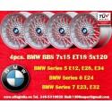 4 pz. llantas BMW BBS X Spoke 7x15 ET18 5x120