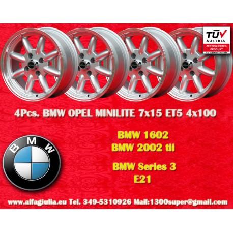 4 pcs. BMW Minilite 7x15 ET+5 4x100