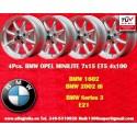 4 pcs. BMW Minilite 7x15 ET+5 4x100 wheels