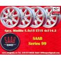 4 pcs. llantas Saab Minilite 5.5x15 ET15 4x114.3