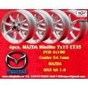 4 Stk. Felgen Mazda Minilite  7x15 ET35 4x100