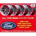 4 pcs. cerchi Ford Minilite 7x13 ET-7 4x108 Anthracite