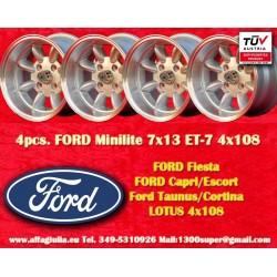 4 pcs. jantes Ford Minilite 7x13 ET-7 4x108