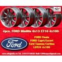 4 Stk. Felgen Ford Minilite 6x13 ET16 4x108 Anthracite