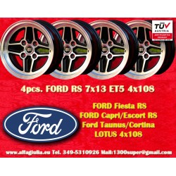 4 pz. llantas Ford RS 7x13 ET5 4x108