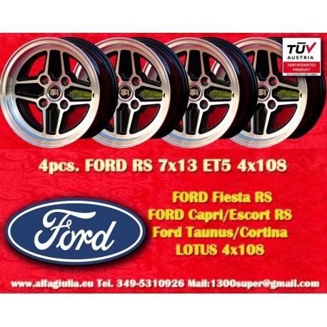 4 Stk. Ford RS 7x13 ET5 4x108