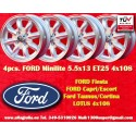 4 Stk. Felgen Ford Minilite 5.5x13 ET25 4x108