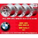 4 Stk. Felgen BMW Minilite 9x13 ET-12 4x100