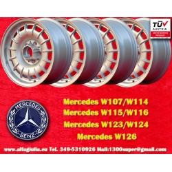 4 Stk. Mercedes Benz Barock Bundt Cake 7x15 ET23 5x112