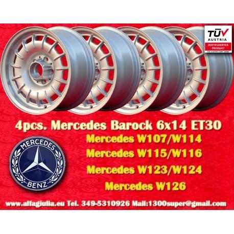 4 Stk. Mercedes Benz Barock Bundt Cake 6x14 ET30 5x112