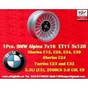 1 pc. llanta BMW  Alpina 7x16 ET11 5x120