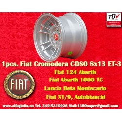 1 pc. cerchio Fiat Cromodora CD80 8x13 ET-3 4x98