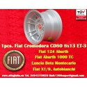 1 pz. llanta Fiat Cromodora CD80 8x13 ET-3 4x98