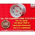 1 Stk. Felge Fiat Cromodora CD66 7x13 ET10 4x98