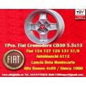 1 pz. llanta Fiat Cromodora CD30 5.5x13 ET7 4x98
