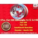 1 pc. jante Fiat 500 126 Autobianchi Bianchina  Millemiglia 5x12 ET20 4x190
