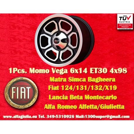 Fiat/Lancia/Alfa Romeo Momo Vega  6x14 ET30 4x98