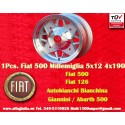1 pc. cerchio Fiat 500/126 Millemiglia 5x12 ET20 4x190