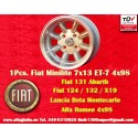 1 Stk. Felge Autobianchi Minilite 7x13 ET-7 4x98