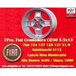 1 Stk. Felge Autobianchi Cromodora CD30 5.5x13 ET7 4x98