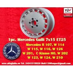 1 Stk. Felge Mercedes Benz Gullideckel 7x15 ET25 5x112