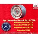 1 pc. Mercedes Benz Barock Bundt Cake 6x14 ET30 5x112 wheel