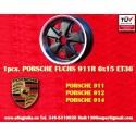 1 pz. llanta Porsche 911 Fuchs 6x15 Deep Six ET36 5x130