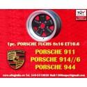 1 pz. llanta orsche 911 Fuchs 8x16 ET10.6 5x130