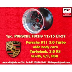 1 pc. Porsche wheel 911 Fuchs 11x15R ET-27 5x130