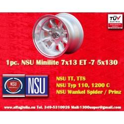 1 pc. Minilite NSU 7x13 ET-7 5x130 wheel