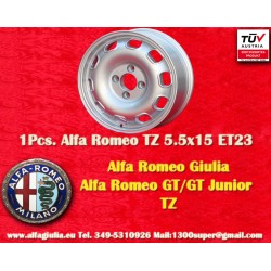 4 pcs Cerchio Alfa Romeo 115/105 Giulia GT  5.5x15 ET23 4x108