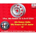 1 pz. Llanta Alfa Romeo 115/105 Giulia GT 5.5x15 ET23 4x108