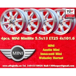 4 pcs.  Mini 5.5x13 ET25 4x101.6 wheels