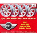 4 pcs. Mini 6x13 ET16 4x101.6 wheels